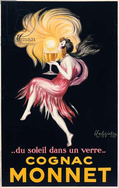 Cognac Monnet, 1927 (colour litho)