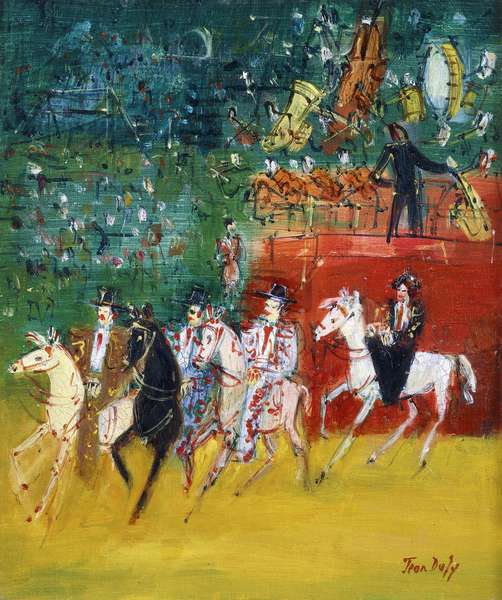 The Circus; Le Cirque, (oil on canvas)