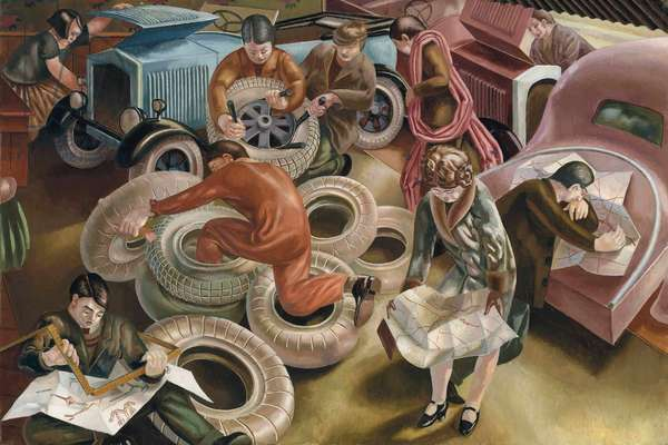 The Garage, 1929 (oil on canvas)