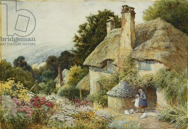 A Cottage at Selworthy, near Minehead, (pencil and watercolour heightened with white)