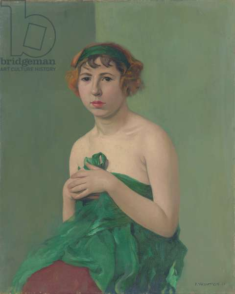 The Green Ribbon, 1911 (oil on canvas)