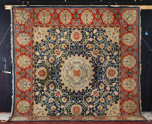 A rare 'Swan-House' Hammersmith hand-knotted carpet, Morris & Co. , c.1890 (textile)
