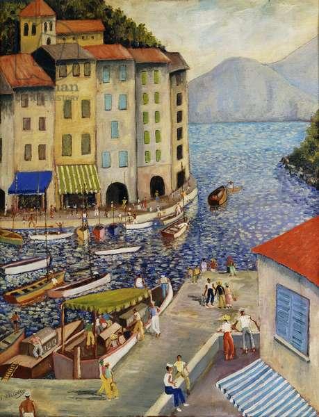 Portofino, (oil on canvas)