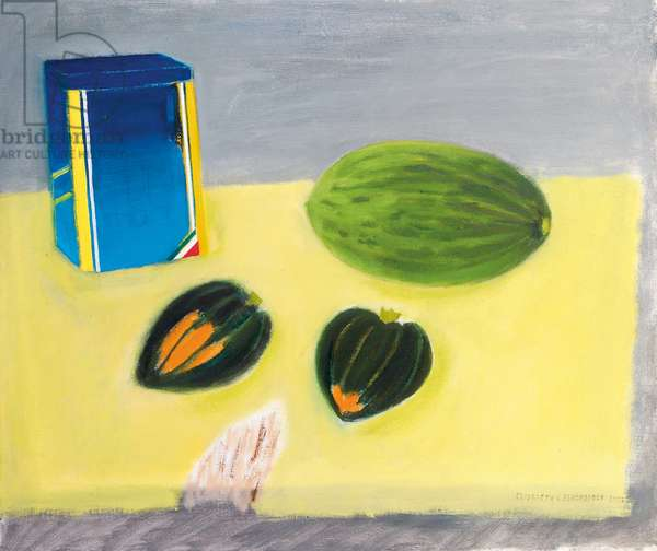Still Life, Melon and Squashes, 2003 (oil on canvas)
