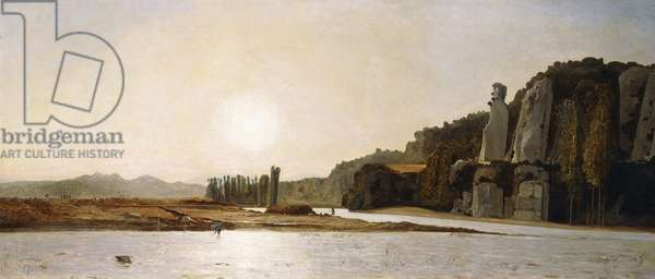Sunrise on the Banks of the Durance at Mirabeau, 1865 (oil on canvas)
