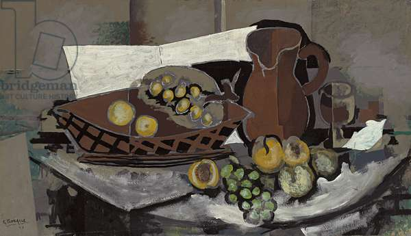 Still Life with Fruit Basket; Nature Morte a la Corbeille de Fruits, 1927 (oil on panel)