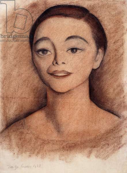 Portrait of a Girl, 1928 (charcoal and wax crayon on paper)