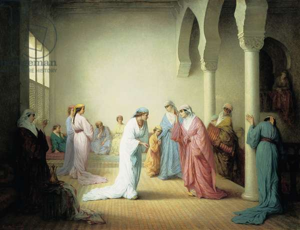 The Arrival into the Harem at Constantinople, 1861 (oil on canvas)
