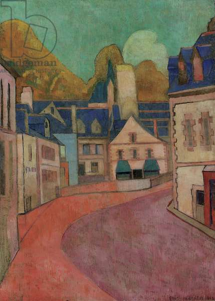 La Rue Rose, Pont-Aven, 1892 (oil on card laid down on panel)