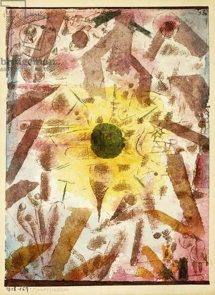 Eclipse; Sonnenfinsternis, 1918 (watercolour, pen and black ink on paper)