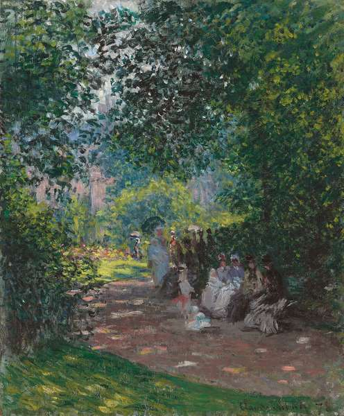 In Monceau Park, 1878 (oil on canvas)