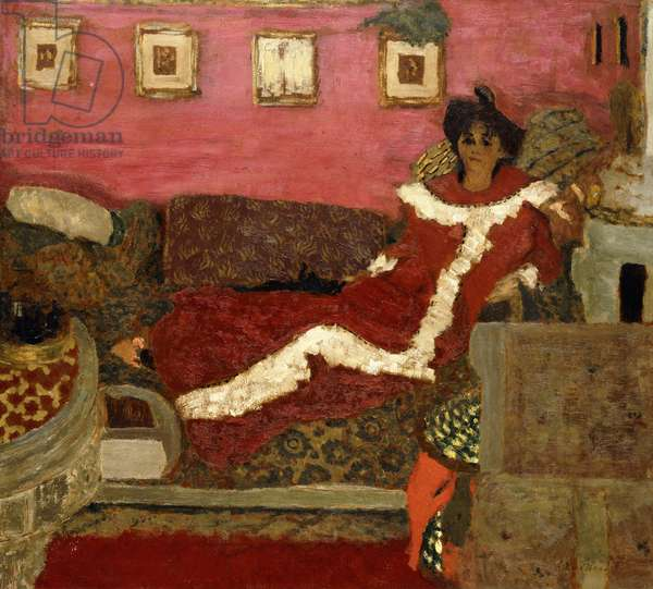 Portrait of Mme Delierre in a Symphony of Red, c.1905 (oil on cradled board)