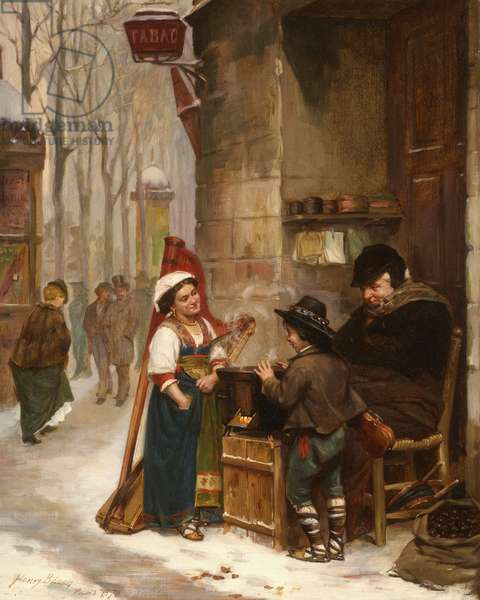 The Chestnut Vendor, 1870 (oil on canvas)