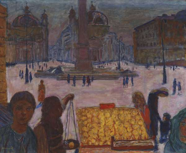 Piazza del Popolo, Rome, 1922 (oil on canvas)