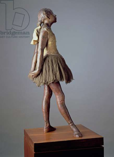 Little Dancer, Aged 14 (polychrome bronze, muslin, satin and wood) (see also 100778)