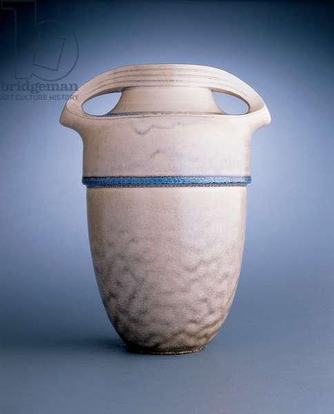 Rare vase, made by Reinhold Hanke, Keramische Werkstatten Hoher-Grenzhausen, c.1902 (stoneware)