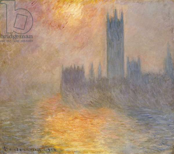The Houses of Parliament, Sunset, 1904 (oil on canvas)