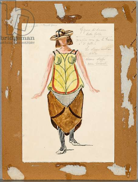 Costume for Amphion, 1942 (w/c on card)