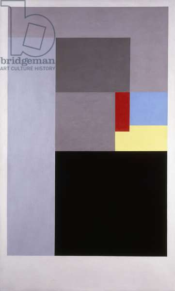 1936 (painting - cadmium red, lemon and cerulean)