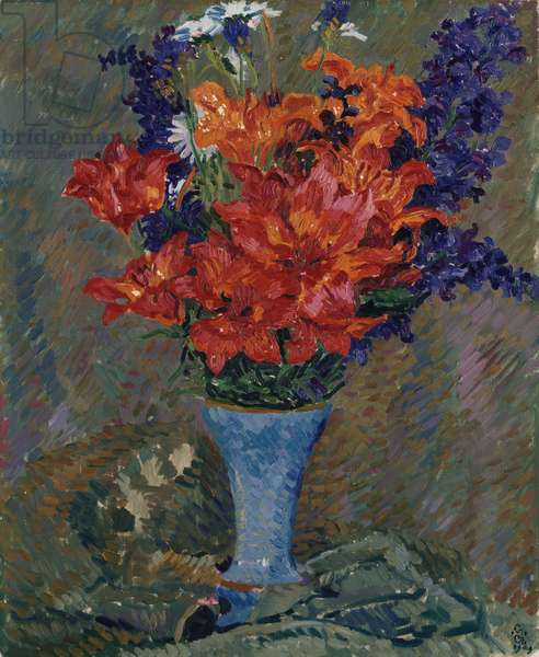 Tiger Lilies (Field Bouquet), 1909 (oil on canvas)