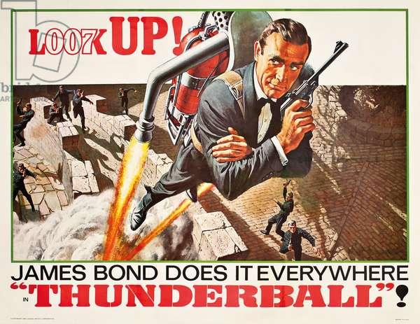 U.S. poster for the James Bond film 'Thunderball', 1965 (colour litho)