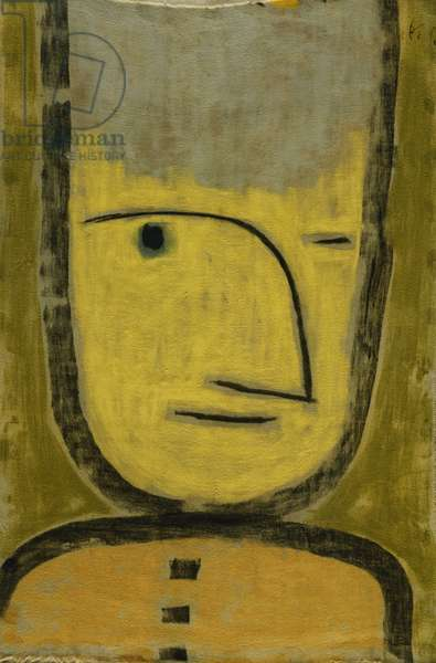 The Yellow-Green; Der Gelb-Grune, 1938 (oil and pastel on linen laid down on the artist's original mount)