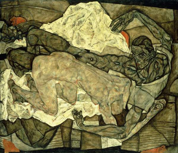 Lovers (Man and Woman I); Liebespaar (Mann und Frau I), 1914 (oil on canvas)