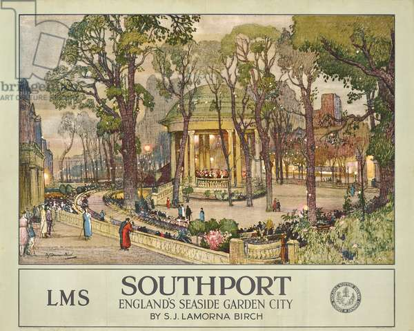 'Southport', a London, Midlands & Scottish Railway Company advertising poster, c.1925 (offset colour lithograph)