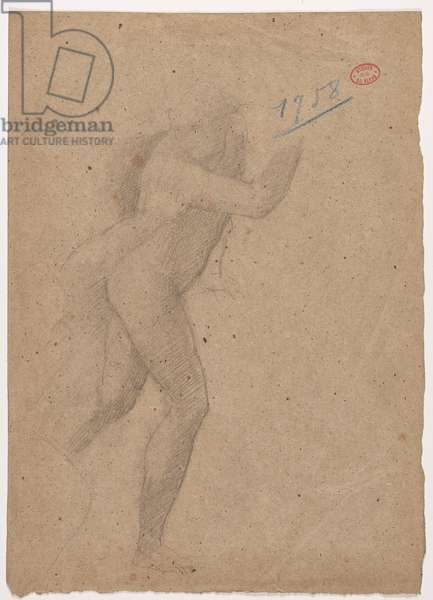 Study after an engraving by Marcantonio Raimondi after Raphael, 'The massacre of the innocents', c.1854-56 (pencil & stump on brown paper)