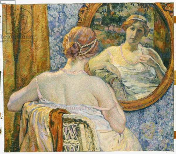 Woman in a Mirror, 1907 (oil on canvas)