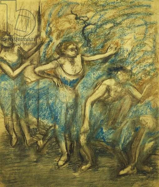 Four Dancers; Quatre Danseuses, 1903 (pastel on paper)