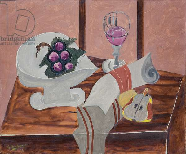 Still Life with a Pear; Nature morte a la poire, 1939 (oil on canvas)