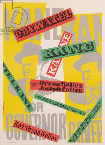Citizen Kane, 1941 (colour litho)