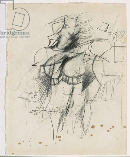 Woman, 1951 (graphite on paper)