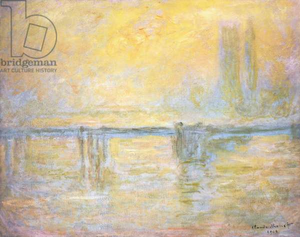 Charing Cross Bridge, Fog; Charing Cross Bridge, Brouillard, 1902 (oil on canvas)