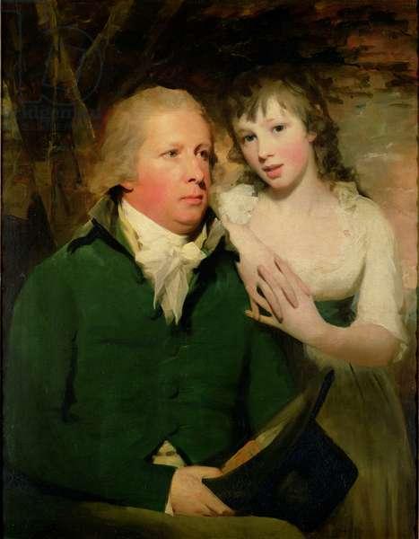 Sir Alexander Don with his daughter Elizabeth