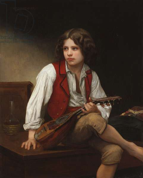 Italian with a Mandolin, 1870 (oil on canvas)