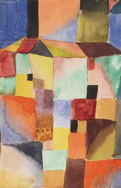 Red/Green Orange/Blue, 1919 (watercolour on paper)