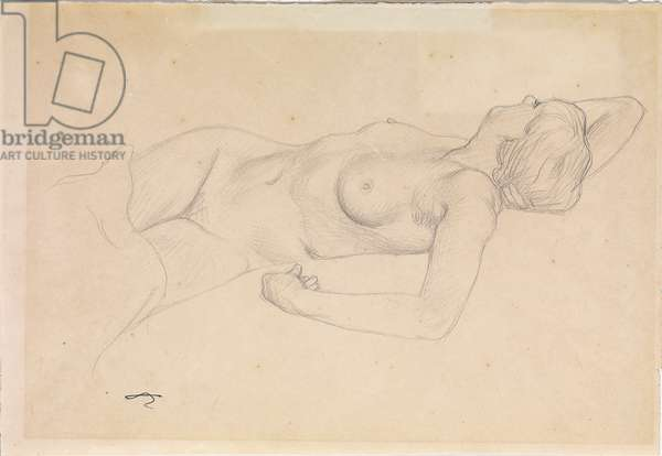 Reclining nude (pencil on paper) (pair to 714786)