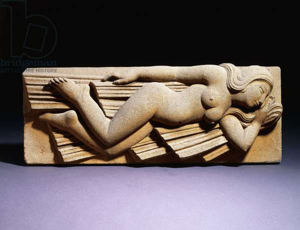 Model for Sculpture: The South Wind, 1929 (bath stone relief)