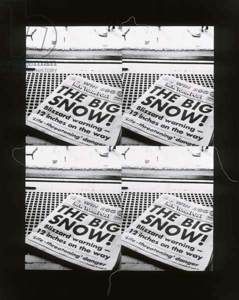 The Big Snow, 1976-86 (four stitched gelatin silver prints)