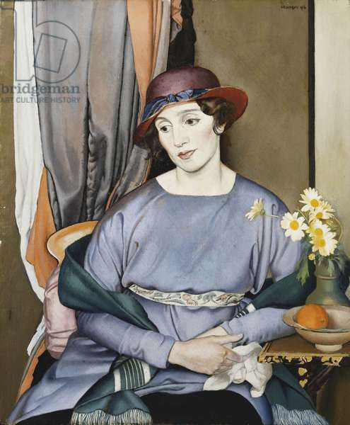 Lady in a Hat, the Artist's Wife, 1916 (oil on canvas)