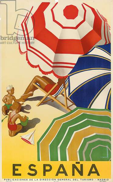 Poster advertising Spain, published by the Spanish State Tourist Department (colour lithograph)