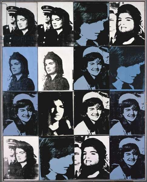 Sixteen Jackies, 1964 (synthetic polymer & silkscreen ink on canvas)