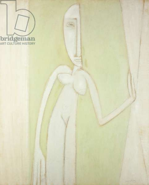 The Curtain: La Cortina, 1942 (pastel and charcoal on paper laid down on board)