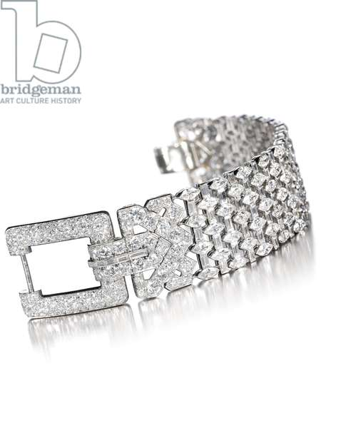 Art Deco bracelet, c.1930 (diamonds & platinum)