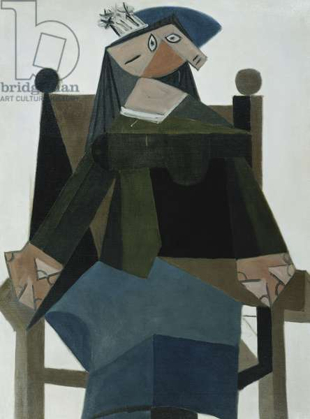 Woman Seated on a Chair; Femme Assise dans un Fauteuil, 1941 (oil on canvas)