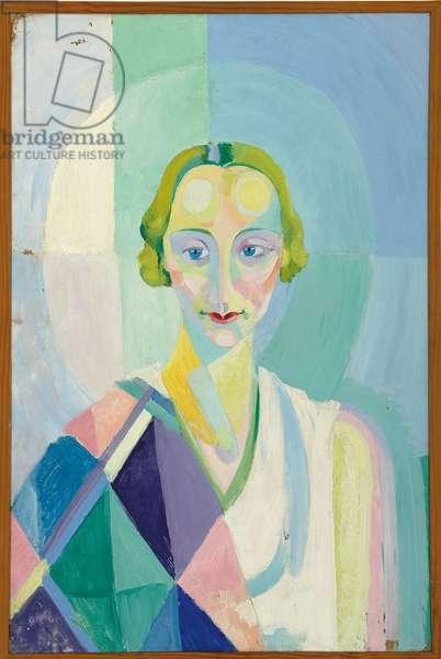 Portrait de Madame Heim, 1926-27 (oil on board)