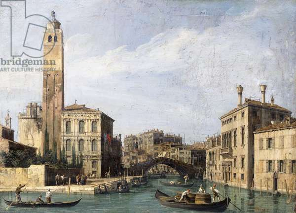 The Grand Canal with San Geremia, Palazzo Labia and the Entrance to the Cannaregio, c.1726-1730 (oil on canvas)