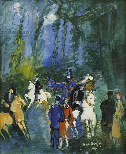 Walk in the Park; Promenade sur le Parc, 1930 (oil on canvas)